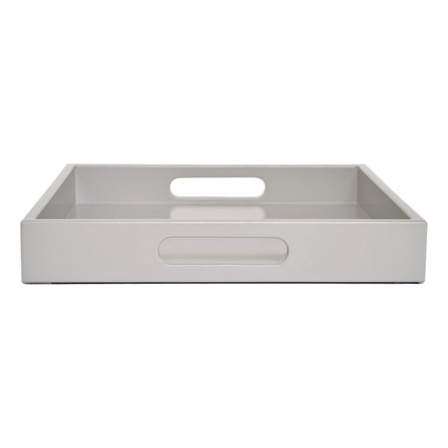taupe gray tray with handles