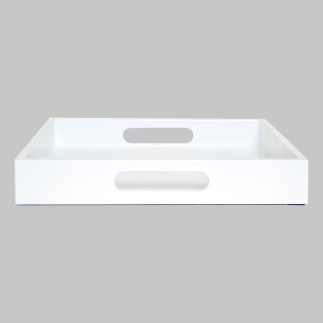 white tray with handles