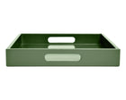 shaded green ottoman coffee table tray with handles
