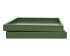 Shaded Green Low Profile Tray