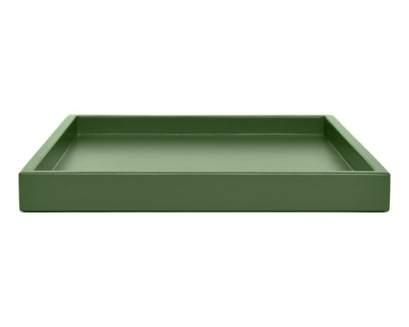 shaded green low profile coffee table ottoman tray