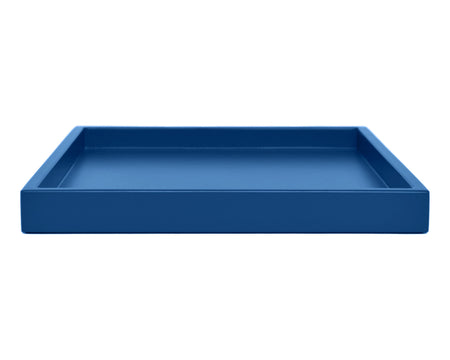 Blue Low Profile Large Ottoman Coffee Table Tray