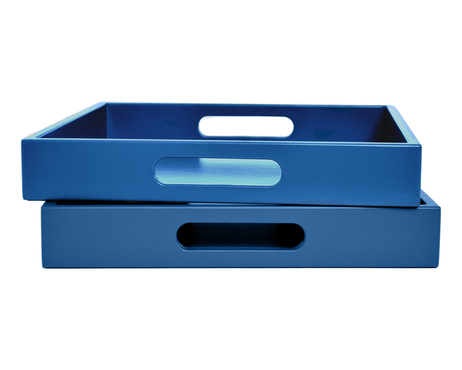 Blue Tray with Handles