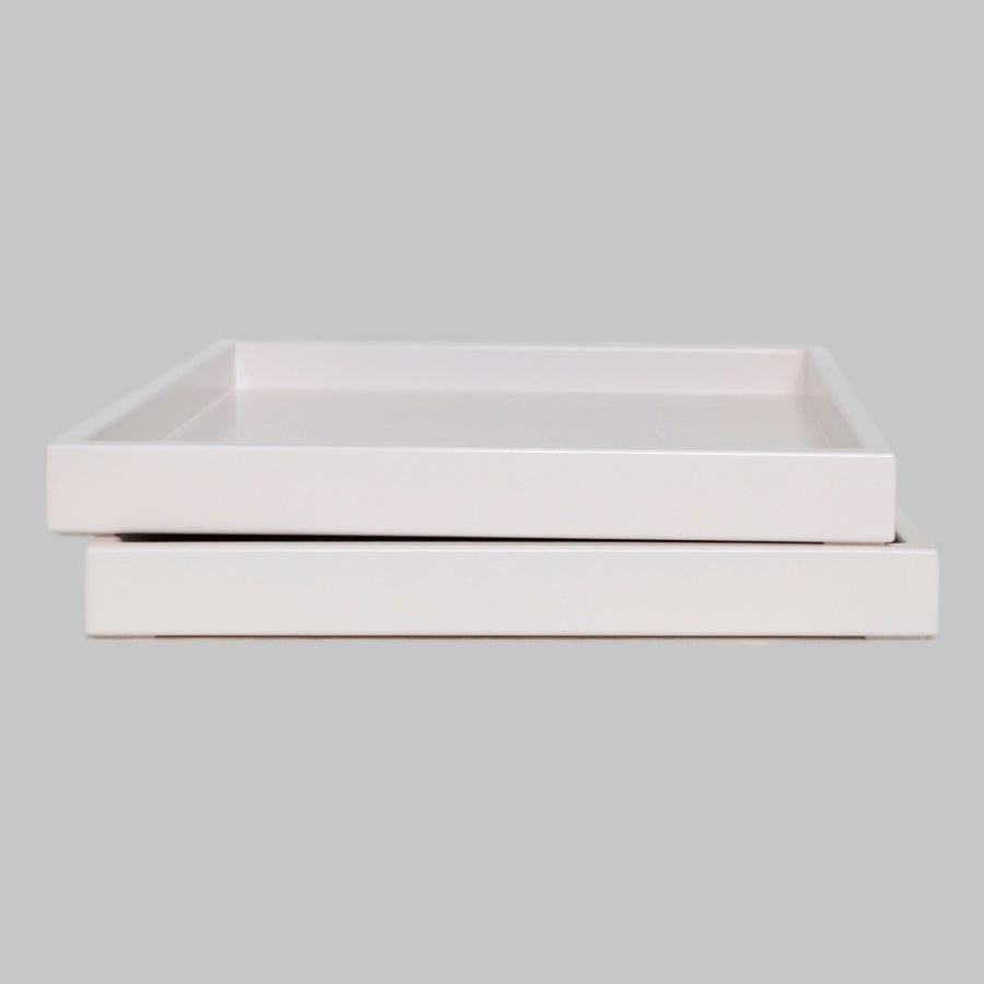 pale pink low profile lacquer tray