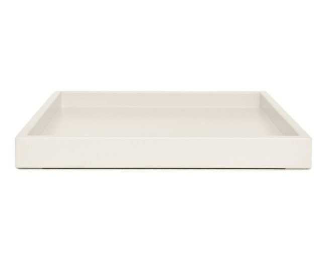 Bone Off White Large Low Profile Ottoman Coffee Table Tray