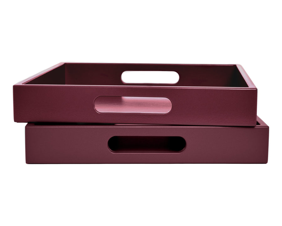 Dark Pink Tray with Handles