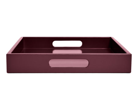 dark pink ottoman coffee table tray with handles