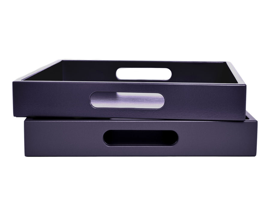 Dark Purple Tray with Handles