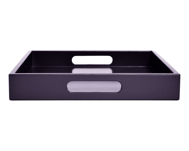 dark purple coffee table ottoman tray with handles