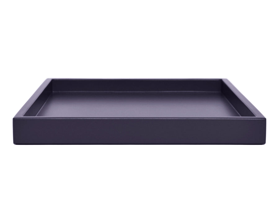 dark purple low profile ottoman coffee table tray
