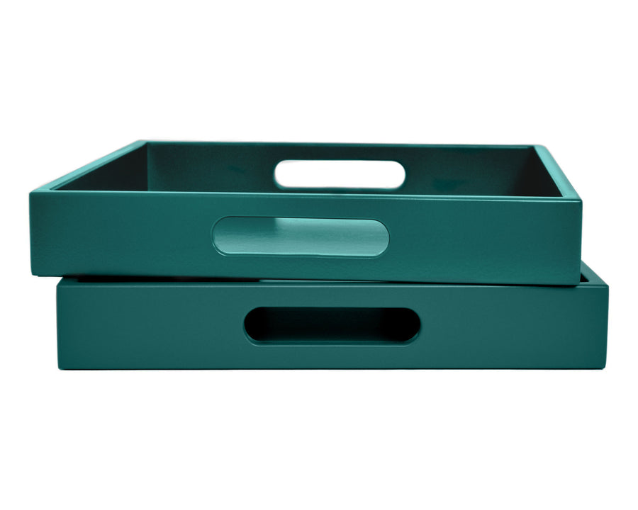 Dark Teal Tray with Handles