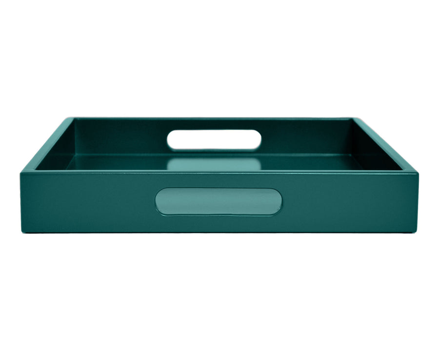 dark teal coffee table ottoman tray with handles
