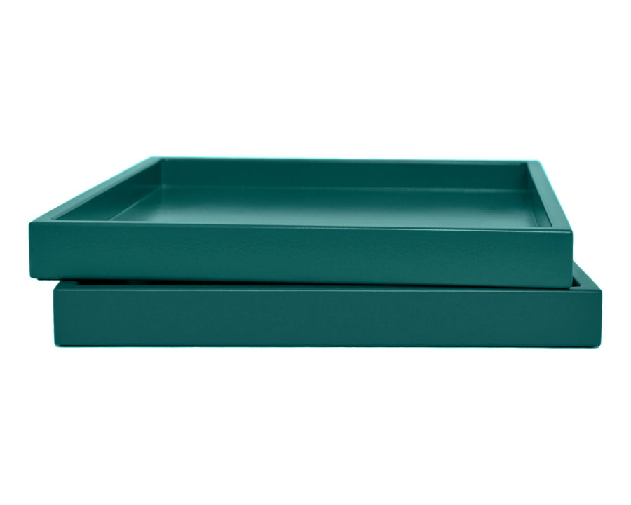 Dark Teal Low Profile Tray