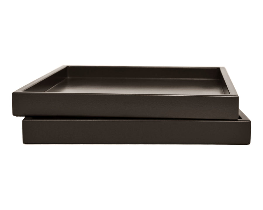 Dark Brown Low Profile Tray
