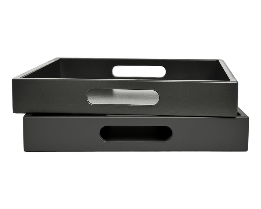 Dark Gray Tray with Handles