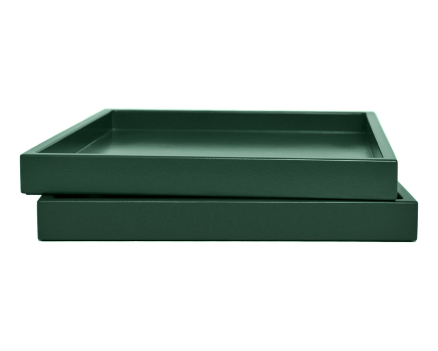 Dark Green Low Profile Tray