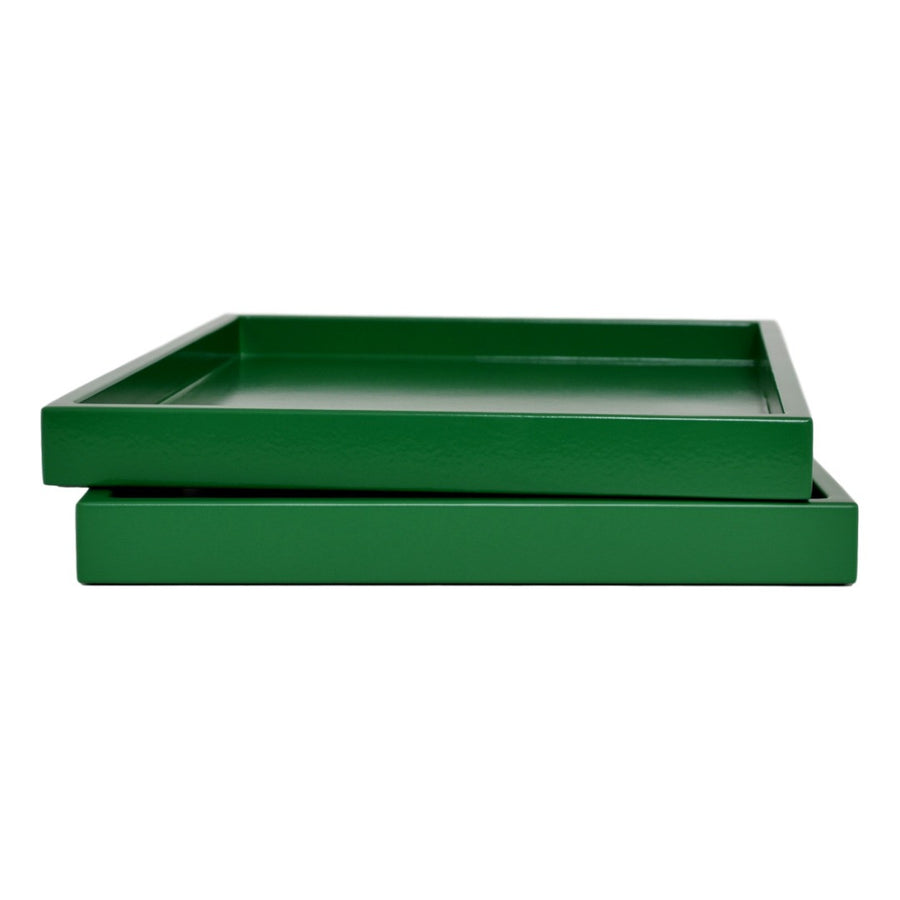 emerald green low profile lacquer tray