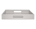 gray large ottoman coffee table tray with handles