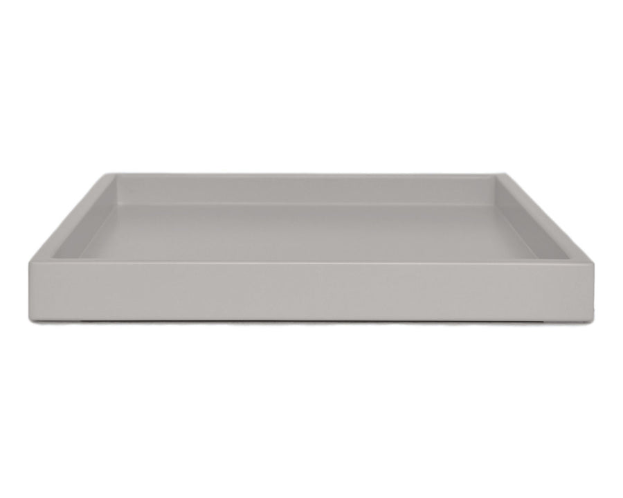 gray large low profile ottoman coffee table tray