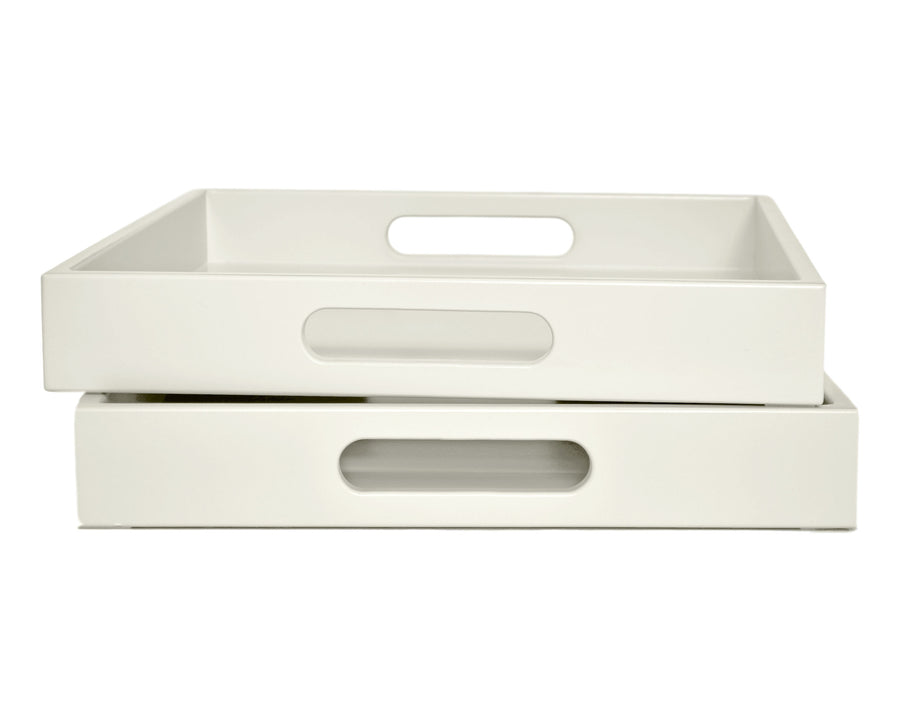 Ivory Tray with Handles