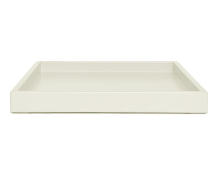 Ivory Low Profile Large Ottoman Coffee Table Tray