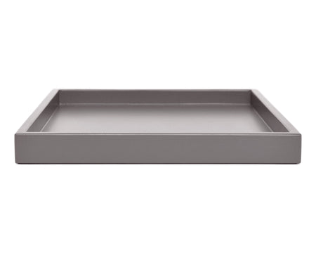 purple gray low profile ottoman coffee table tray