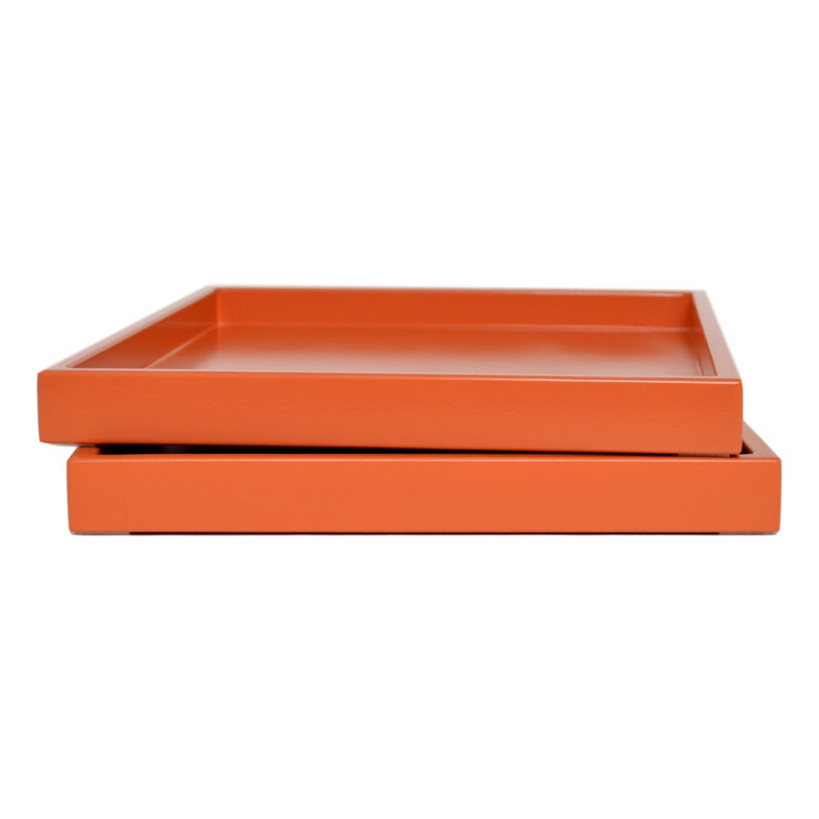orange low profile lacquer tray