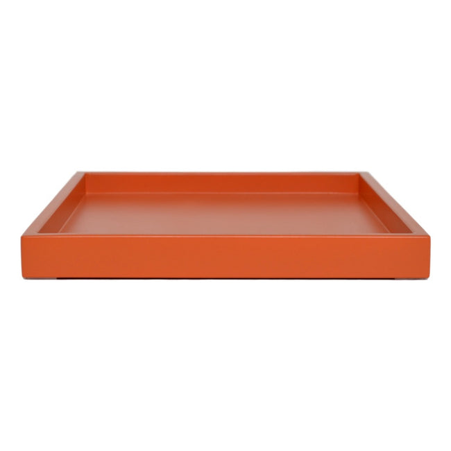orange shallow tray