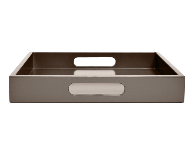 Shaded Taupe Tray with Handles