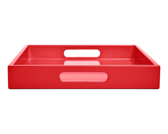 Red Large Ottoman Coffee Table Tray with Handles