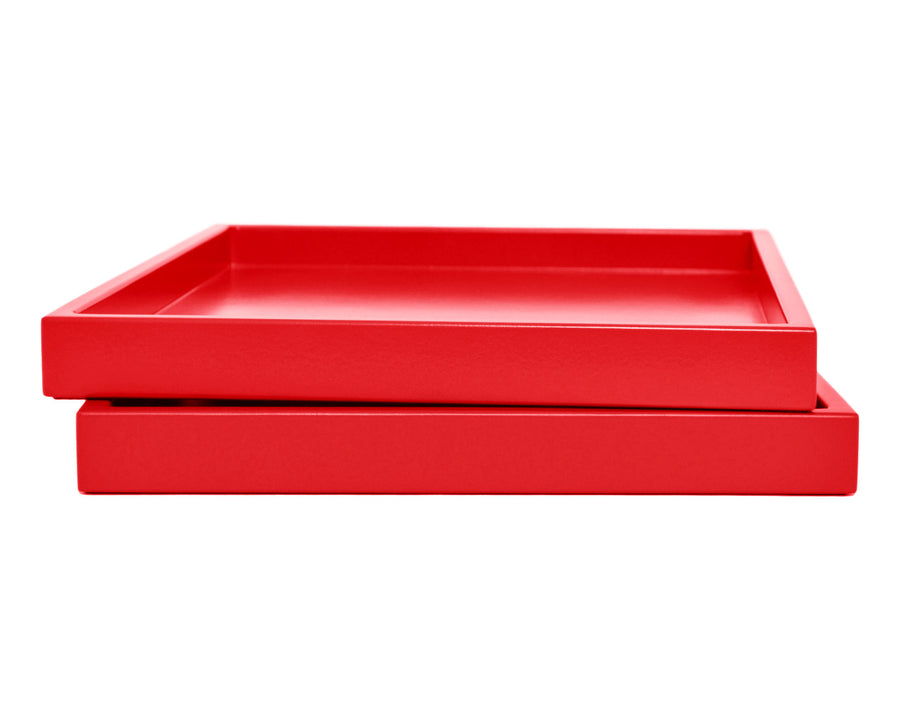 Red Low Profile Tray