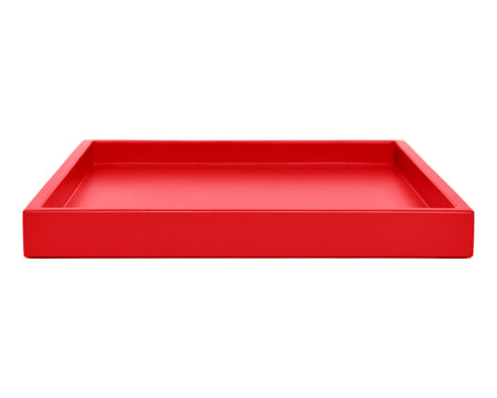 Red Large Low Profile Ottoman Coffee Table Tray