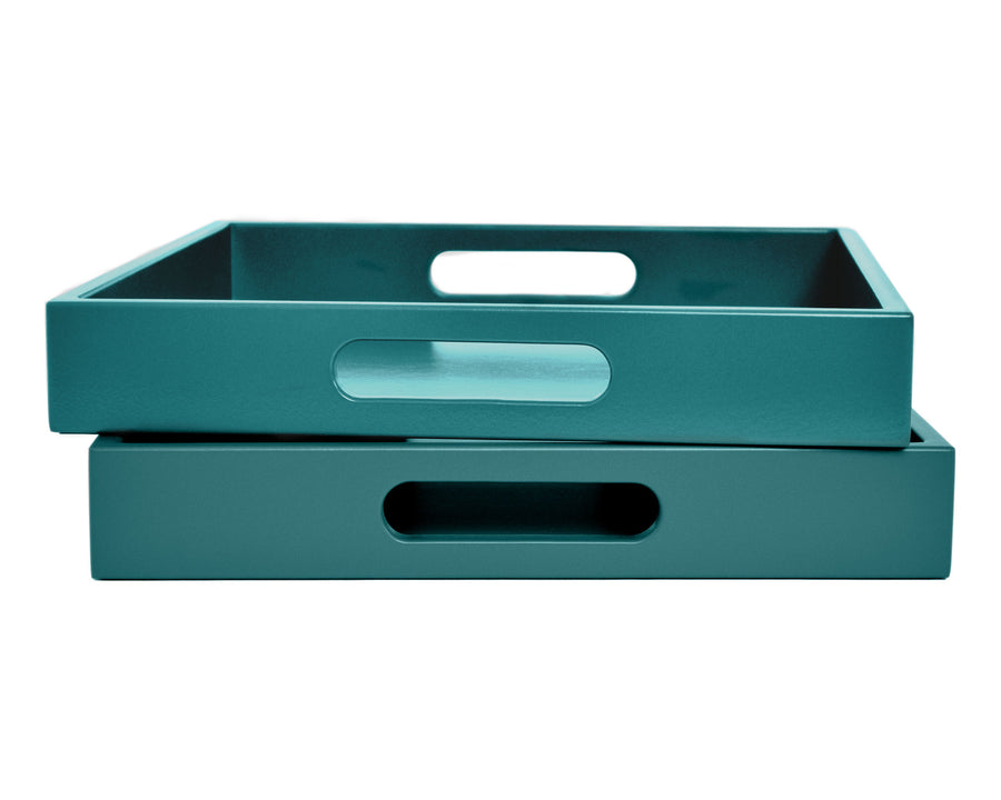 Teal Tray with Handles