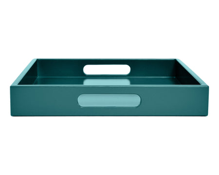 teal coffee table ottoman tray with handles