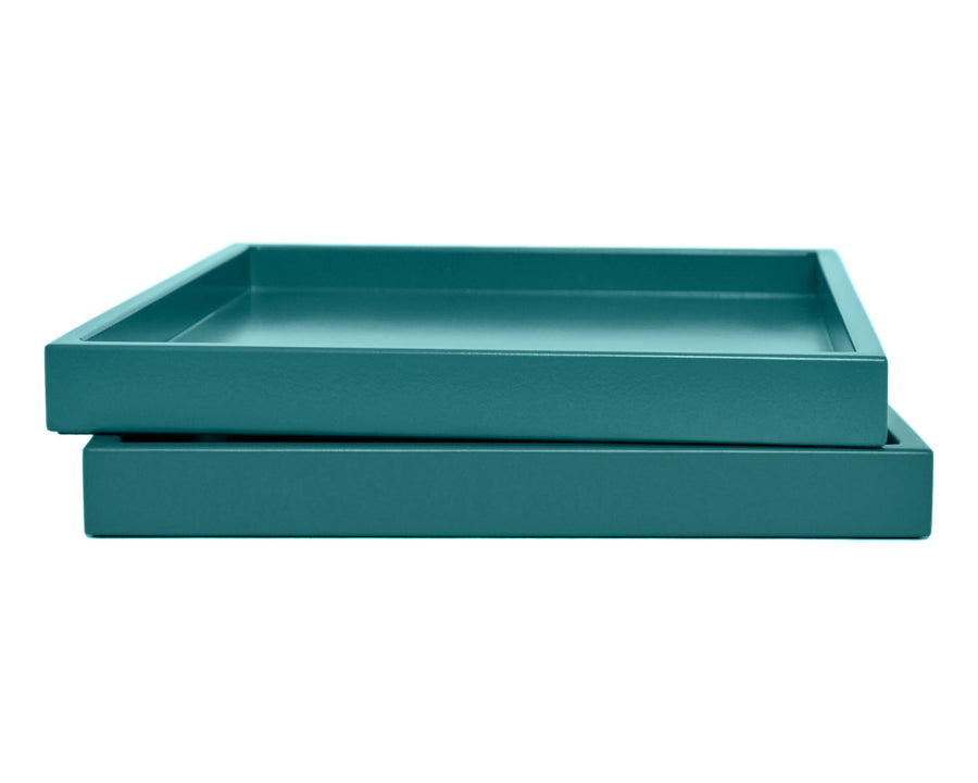 Teal Low Profile Tray