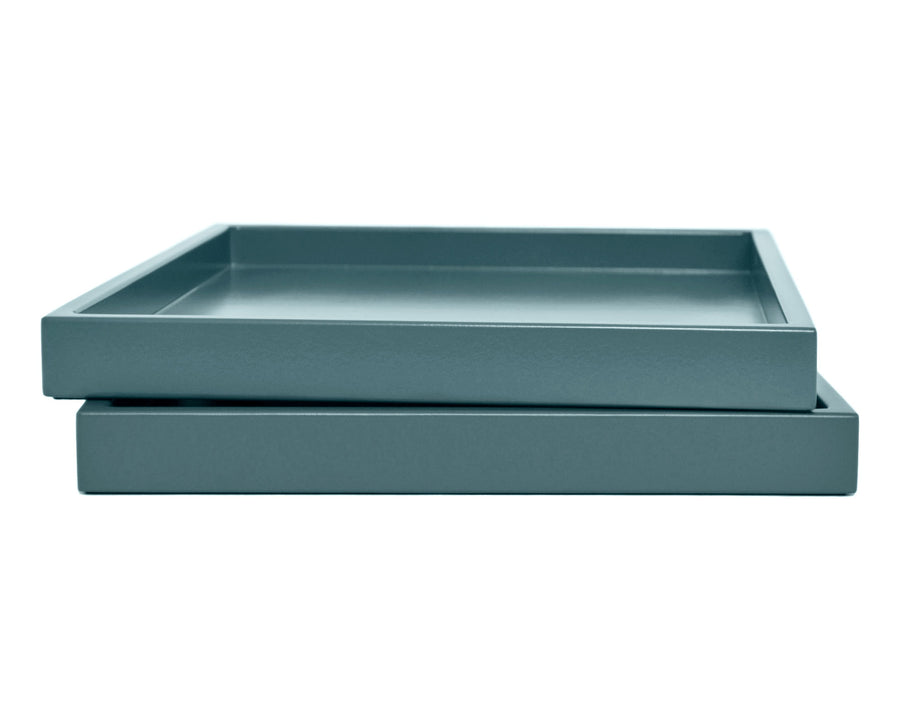 Shaded Blue Low Profile Tray