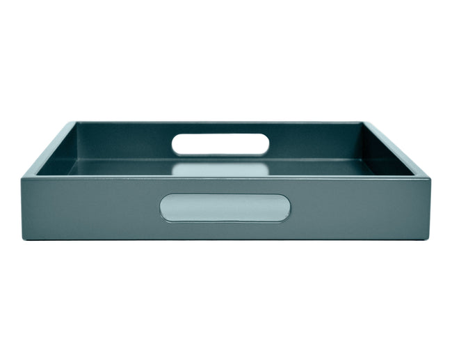 Shaded Blue Tray with Handles