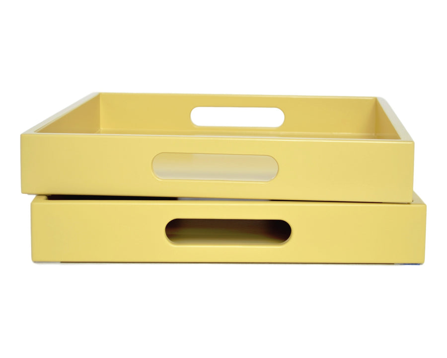 Yellow Tray with Handles