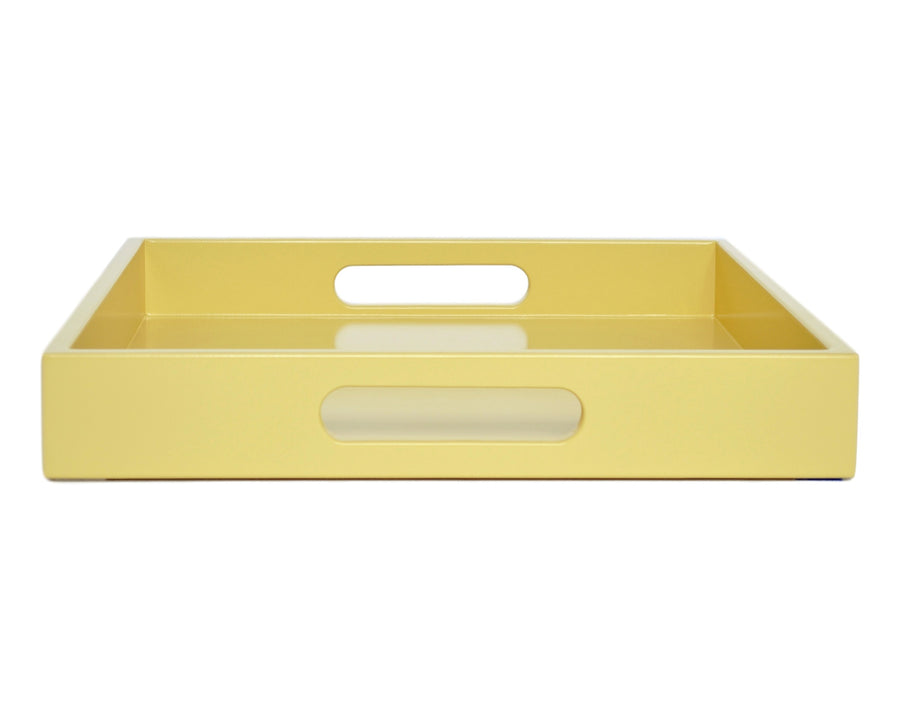 yellow large ottoman coffee table tray with handles
