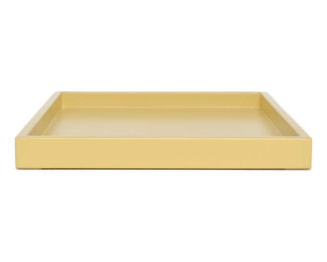 yellow low profile large ottoman coffee table tray