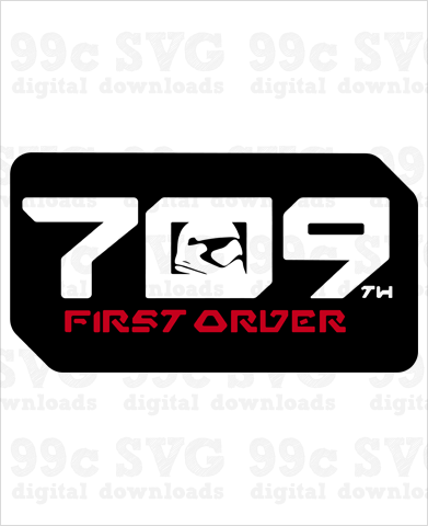 Star Wars: 709 First Order SVG
