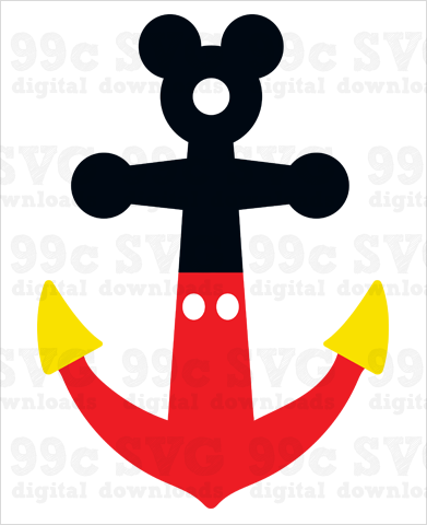 Mickey Mouse Anchor SVG