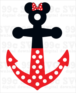 Minnie Mouse Anchor SVG