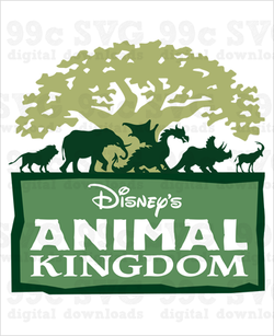 Animal Kingdom Logo SVG