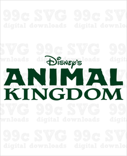 Animal Kingdom Text Logo SVG