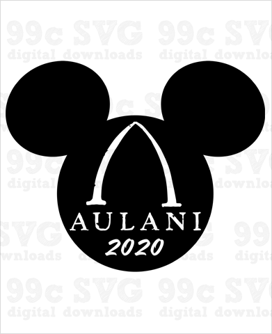 Aulani 2020 Mickey Head SVG