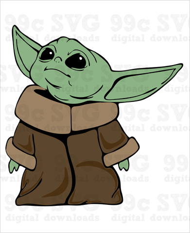 Star Wars: Baby Yoda SVG