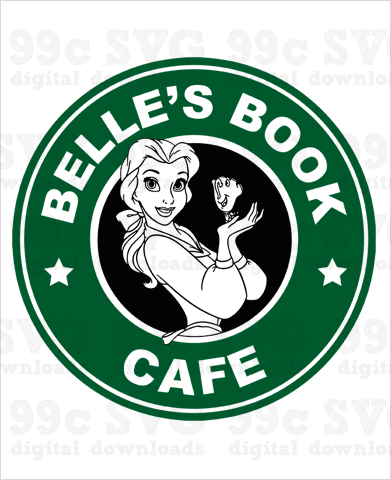 Belles Book Cafe Starbucks SVG