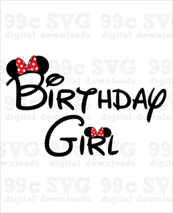 Minnie Birthday Girl SVG