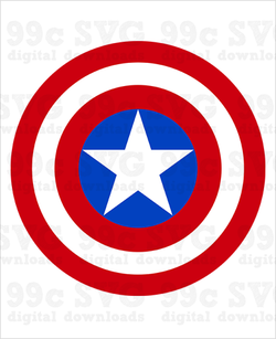 Captain America Logo SVG